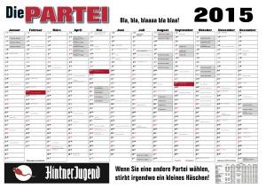 Der PARTEI Kalender 2015